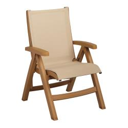 Grosfillex - CT352008 - Khaki/Teakwood Belize Midback Sling Chair image