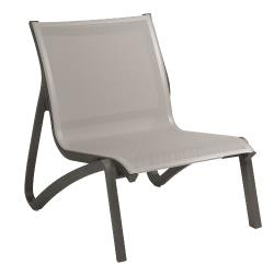 Grosfillex - US001288 - Solid Gray / Volcanic Black Sunset Armless Lounge Chair image
