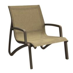 Grosfillex - US001599 - Cognac / Fusion Bronze Sunset Armless Lounge Chair image