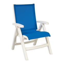 Grosfillex - US532004 - Royal Blue/White Belize Midback Sling Chair image