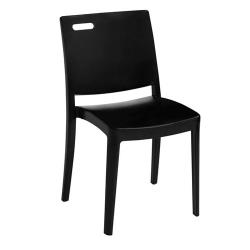 Grosfillex - US563017 - Black Metro Stacking Chair image