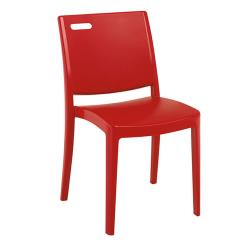 Grosfillex - XA653202 - Red Metro Stacking Chair image