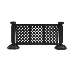 Grosfillex - US963117 - Black 3 Panel Patio Fence Section image