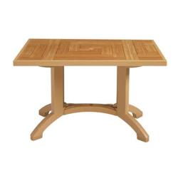 "Grosfillex - CT645008 - Teakwood 48"" x 32"" Havana Table image"