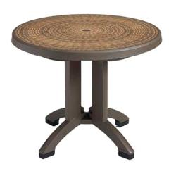 Grosfillex - US215037 - 38 in Round Espresso Havana Table image