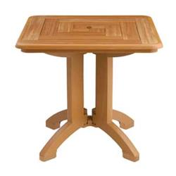 Grosfillex - US643008 - 32 in Teakwood Atlantis Square Table - 2 Pack image