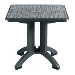 Grosfillex - US700102 - 32 in Square Charcoal Toledo Table - 2 Pack image