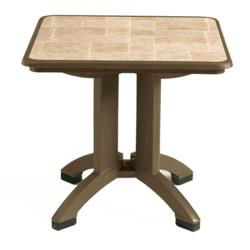 Grosfillex - US701037 - 32 in Square Bronze Mist Siena Table - 2 Pack image