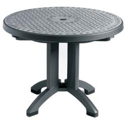 "Grosfillex - US711002 - Charcoal 38"" Toledo Round Table image"