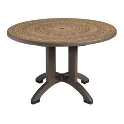 Grosfillex - US715037 - 48 in Round Espresso Havana Table image