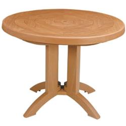 Grosfillex - US920008 - Teakwood 38 in Atlantis Round Table image