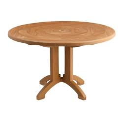 "Grosfillex - US921208 - Teakwood 48"" Atlantis Round Table image"