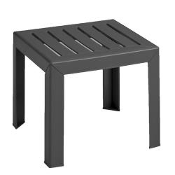 Grosfillex - CT052002 - 16 in Square Charcoal Bahia Low Table image