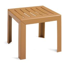 Grosfillex - CT052008 - 16 in Square Teakwood Bahia Low Table image