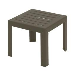 Grosfillex - CT052037 - 16 in Square Bronze Bahia Low Table image