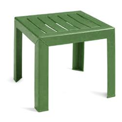 Grosfillex - CT052078 - 16 in Square Amazon Green Bahia Low Table image