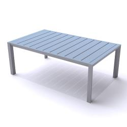 Grosfillex - US004289 - 24 in x 40 in Platinum Gray Sunset Cocktail Table image