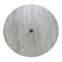Grosfillex - 99881471 - 42 in Round White Oak Molded Melamine Table Top   image
