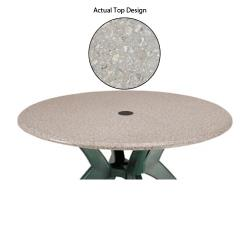 "Grosfillex - 99811002 - Tokyo Stone 36"" Round Table Top w/ Umbrella Hole image"