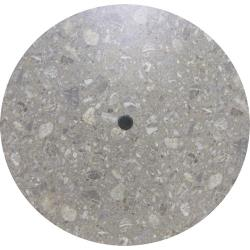 Grosfillex - 99881002 - 42 in Round Tokyo Stone Table w/ Umbrella Hole image