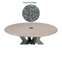 Grosfillex - 99881025 - Granite Green 42 in Round Table w/ Umbrella Hole image