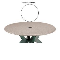 "Grosfillex - 99891304 - White 48"" Round Table Top w/ Umbrella Hole image"