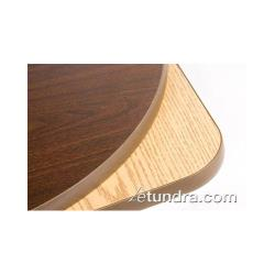 Oak Street Mfg. - CKTL18R-OW - 18 in Round Oak/Walnut Cocktail Table Top image
