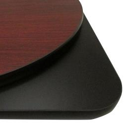Oak Street Mfg. - MB30R - 30 in  x 1 in Round Mahogany/Black Table Top image