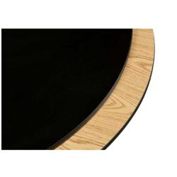 Oak Street Mfg. - OB60R - 60 in x 1 in Round Oak/Black Table Top image