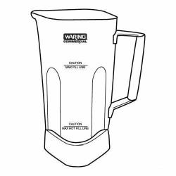 Waring - 503346 - 64 Oz Stainless Steel Jar & Blending Assembly image