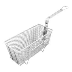 "FMP - 225-1007 - Left Hook Fryer Basket 5 5/8"" x 13 1/4"" x 5 3/4"" image"