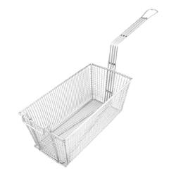Update International - FB-126 - 6 1/2 in x 12 3/4 in x 5 1/8 in Fryer Basket image