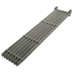 "Commercial - 5 1/4"" x 21"" Slanted Cast Iron Top Grate image"