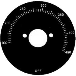 Vulcan Hart - 824321 - 100° - 450° Griddle Dial image