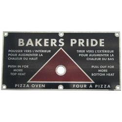 Baker's Pride - U1224A - Push/Pull Plate image