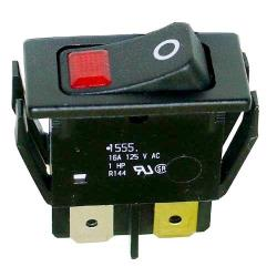 Allpoints Select - 421459 - Red Lighted Rocker Switch image
