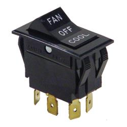 Commercial - DPDT Fan/Off/Cool Rocker Switch image