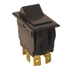 Commercial - DPDT On/Off/On 6 Tab Rocker Switch image