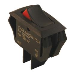 Commercial - SPST On/Off 2 Tab Rocker Switch image