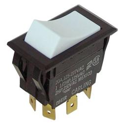 Metro/Intermetro - RPC13-128 - White On/On Rocker Switch image