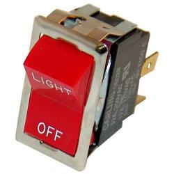 Montague - 23129-0 - Light/Off 4 Tab Rocker Switch image