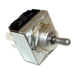 "Commercial - DPDT On/Off/On 6 Tab Toggle Switch Fits 3/4"" Hole image"