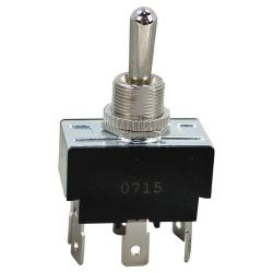 "Commercial - DPDT On/Off/On 6 Tab Toggle Switch Fits 1/2"" Hole image"