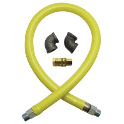 T&S Brass - HG-4E-48 - Safe-T-Link 1 in x 48 in Gas Hose with Quick Disconnect image