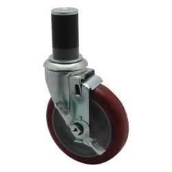 Commercial - Heavy Duty 1 5/8 in Expanding Stem Caster With 5 in Wheel and Brake image