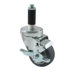 Kason - 6C523027PPPGTLB - 1 in Expanding Stem Caster With 3 in Wheel and Brake image