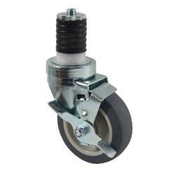 Kason - 6C524026PPPGTLB - 1 5/8 in Expanding Stem Caster With 4 in Wheel and Brake image