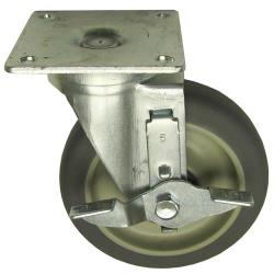 Allpoints Select - 262427 - 5 in Swivel Plate Caster w/ Brake image