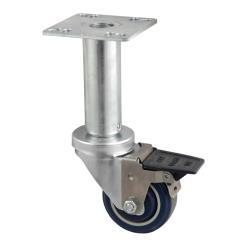 BK Resources - 3SBR-UP3AD-PLY-PS4 - 3 in Swivel Plate Caster Set image