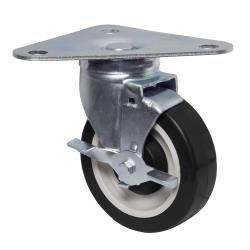 BK Resources - 5HBR-TR5-PLY-PS4 - 5 in Swivel Plate Caster Set image